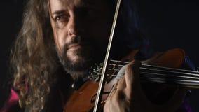Violinista talentoso novo que cria a música com seu violino filme