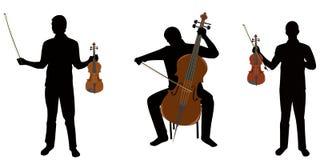 Violinistas Imagen de archivo