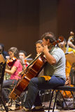 Violinistas na orquestra clássica no trabalho em Manaus, Brasil Fotografia de Stock
