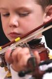 violinistbarn Royaltyfri Bild