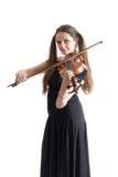 Violinistflicka royaltyfri bild