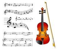 Violino ilustração do vetor