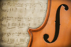 Violino antico Immagini Stock Libere da Diritti