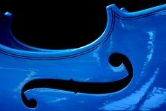 Violino azul Fotos de Stock Royalty Free