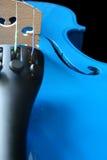 Violino azul Foto de Stock