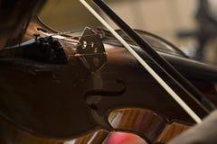 Violino com pouca poeira imagem de stock royalty free