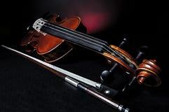 Violino con fiddlestick Immagine Stock Libera da Diritti