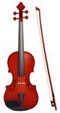 Violino con il fiddlestick Immagini Stock