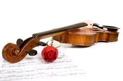 Violino, cor-de-rosa e música imagens de stock royalty free