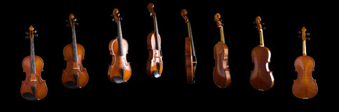 Violino dagli angoli differenti Fotografie Stock