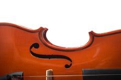 Violino de madeira da vista superior, instrumento de música Imagens de Stock