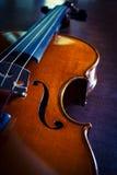 Violino de madeira do close up, cor do vintage Foto de Stock Royalty Free