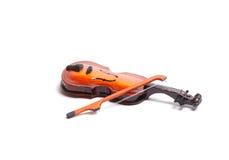 Violino del giocattolo, isolato Fotografia Stock Libera da Diritti