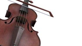 Violino di animazione di CG su un fondo bianco illustrazione vettoriale