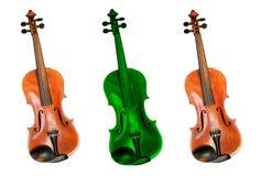 Violino differente Fotografia Stock Libera da Diritti