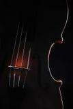 Violino dos instrumentos da orquestra Fotografia de Stock Royalty Free