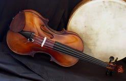Violino e Bodhran 11 Immagini Stock