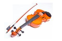 Violino e curva foto de stock