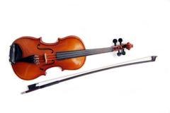 Violino e curva. Fotos de Stock Royalty Free