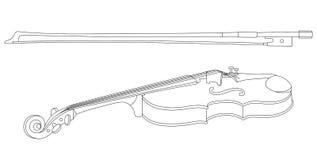 Violino e curva ilustração royalty free