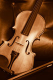 Violino e fiddle Fotografia Stock