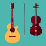 Violino e guitarra Fotografia de Stock Royalty Free