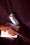 Violino e nota Immagini Stock Libere da Diritti