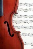 Violino e notas Foto de Stock Royalty Free