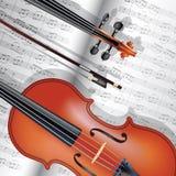 Violino e notas Fotos de Stock
