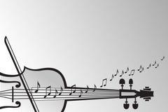 Violino e notas musicais Imagens de Stock Royalty Free