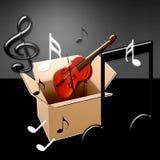 Violino e note Immagini Stock
