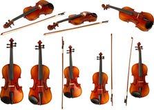 Violino ed arco (serie) Immagini Stock Libere da Diritti