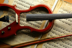 Violino elettrico Fotografia Stock