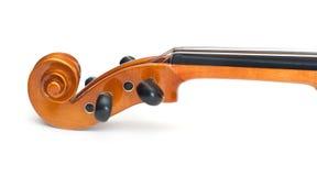 Violino isolato su bianco Fotografie Stock