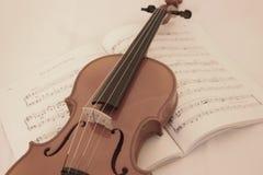 Violino macio Fotos de Stock Royalty Free