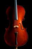 Violino na sala escura Fotos de Stock Royalty Free