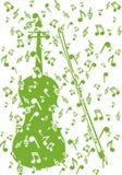 Violino nas notas Imagens de Stock