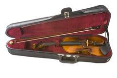 Violino nel caso Immagine Stock