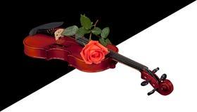 Violino nel fondo trasparente fotografia stock