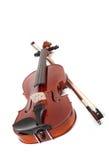 Violino no branco foto de stock royalty free