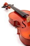 Violino no branco fotografia de stock
