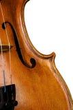Violino no branco Fotos de Stock Royalty Free