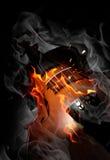 Violino no incêndio ilustração royalty free