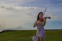 Violino solo Immagini Stock