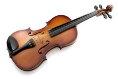 Violino su bianco Fotografie Stock