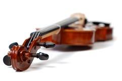 Violino su bianco (serie) Fotografie Stock Libere da Diritti