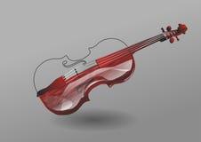 Violino su fondo grigio royalty illustrazione gratis