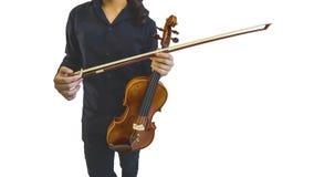 Violino sul musicista fotografia stock libera da diritti