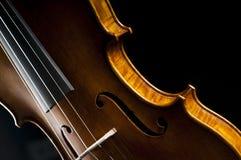 Violino sul nero Fotografia Stock