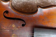 Violino usado Imagens de Stock